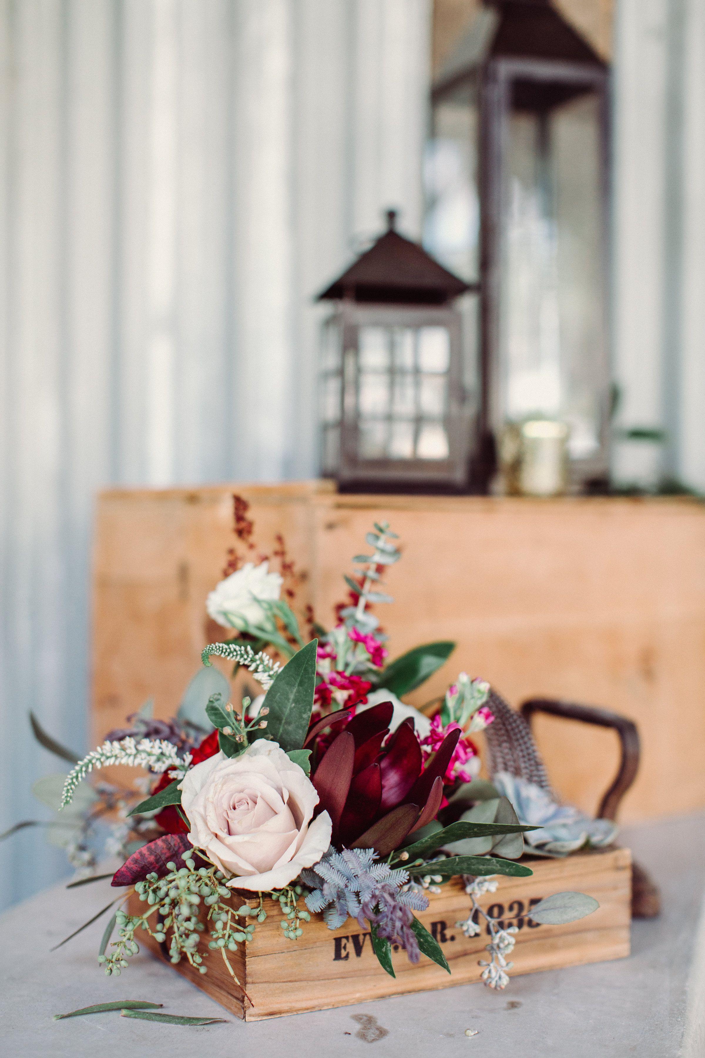 Fall Wedding Reception Decor Statement Piece Burgundy Marsala