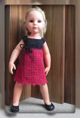 Glamour Puppenkleidung 50 cm, für Götz Stehpuppen oder