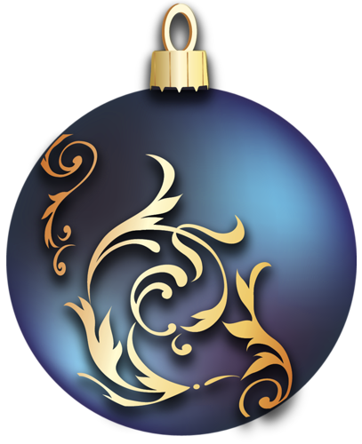 Transparent Blue Christmas Ball With Gold Ornaments Clipart Christmas Balls Christmas Ornaments Ornaments