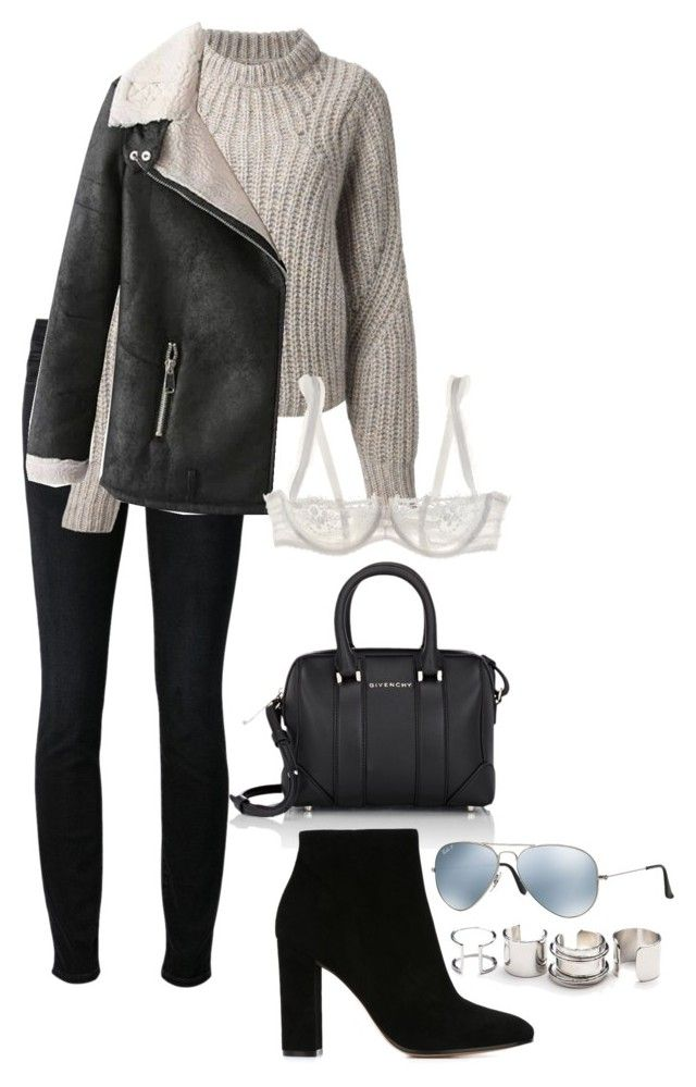 """""""Sin título #235"""" by elipenaserrano ❤ liked on Polyvore featuring Levi's Made & Crafted, Givenchy, Isabel Marant, Gianvito Rossi, Ray-Ban, Free People and Chantelle"""