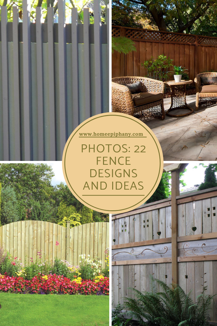 22 Fence Designs And Ideas Fence Design Outdoor Landscaping Fence Styles