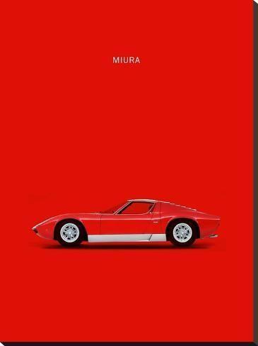 'Lambo Miura 69' Stretched Canvas Print - Mark Rogan | Art.com