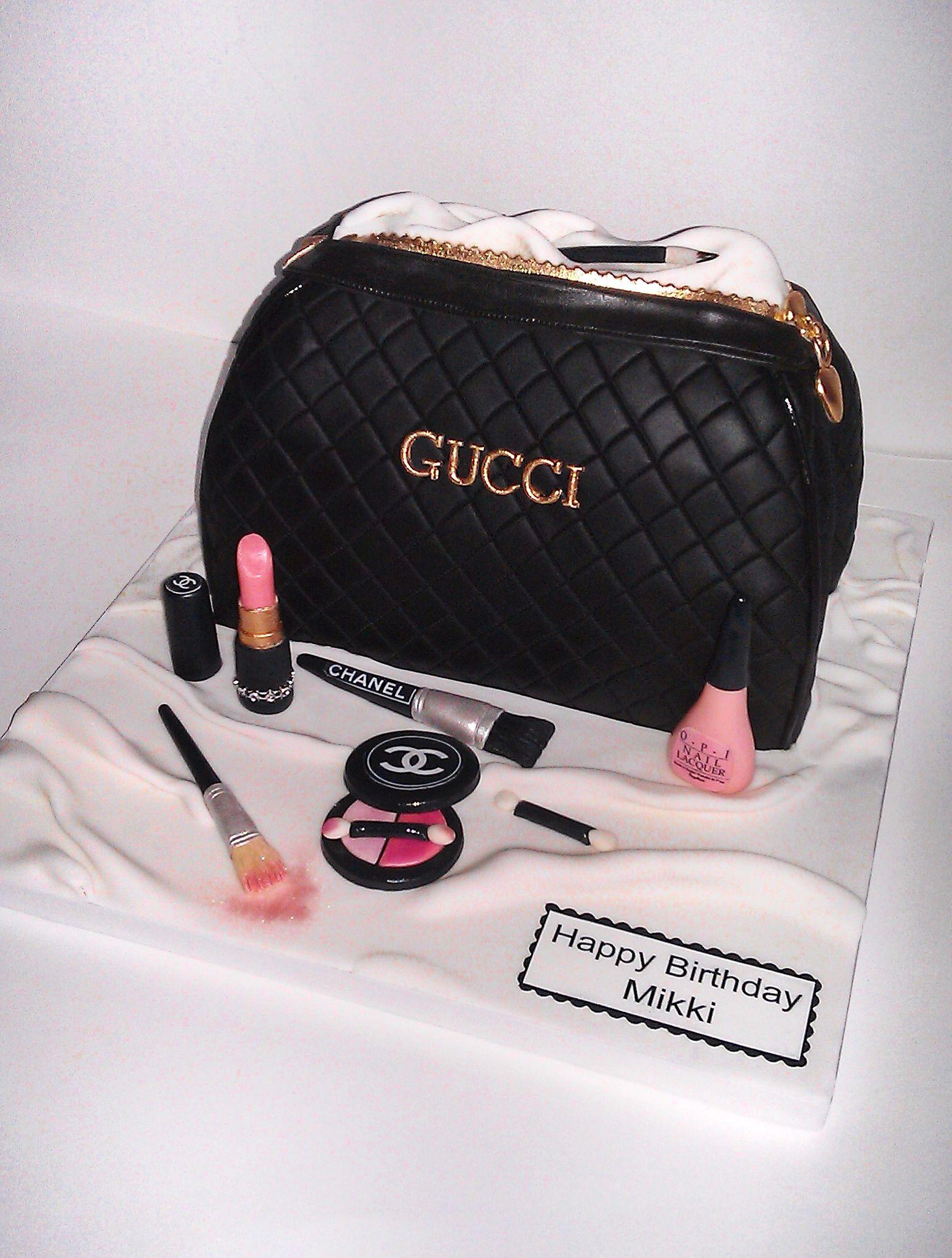 Gucci Makeup Bag Cake