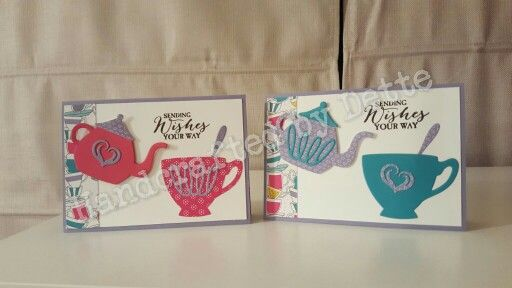 Birthday Cards Melbourne ~ Birthday cards cups and kettles framelits. made by bernadette