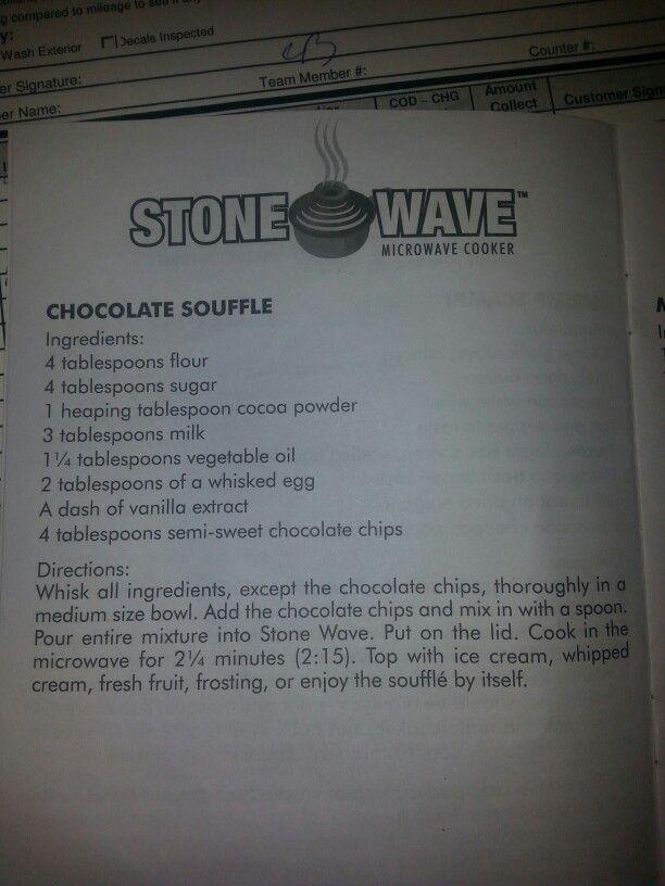 Chocolate Souffle Stone Wave Recipes Chocolate Souffle Mug Recipes