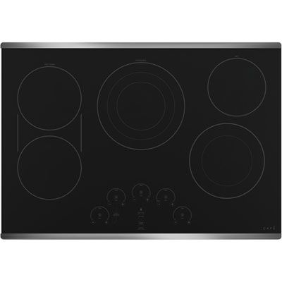 Cafe 30 Inch Stainless Steel Built-In Electric Cooktop CEP90302NSS