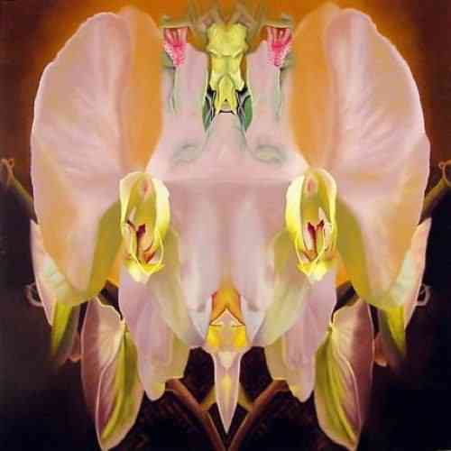 """Rorschach by Jeff Huntington, 2007, oil on canvas, 47"""" x 47"""", Courtesy of Porter Contemporary"""