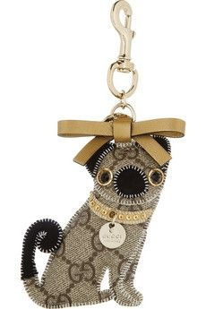 Gucci | Oliver Pug Dog embellished key chain | NET-A-PORTER.COM - StyleSays