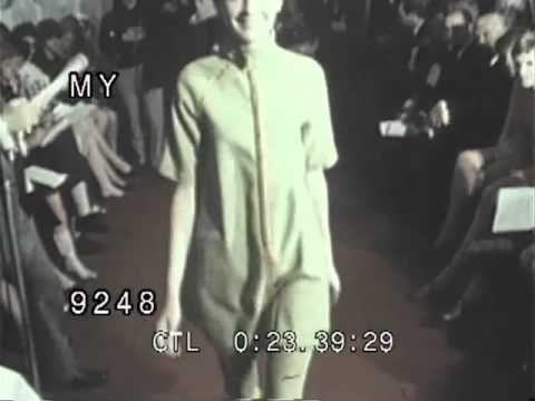 Twiggy in a Fashion Show, 1960's