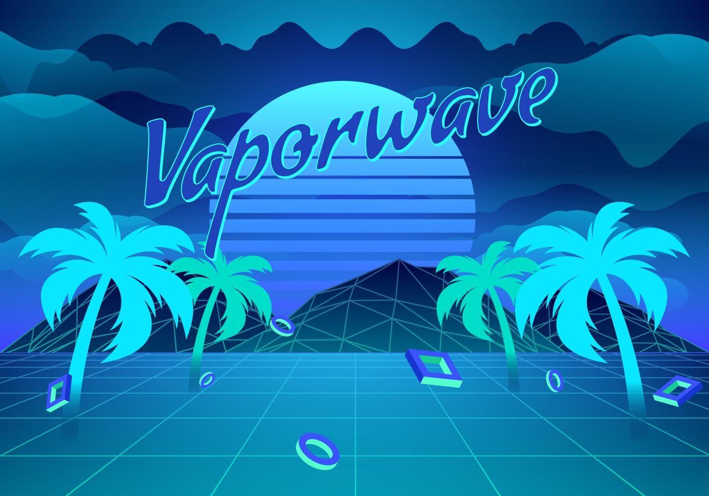 Vaporwave Background Illustration With Images Vaporwave