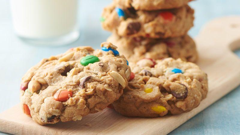 Easy 5 Ingredient Monster Cookies Recipe Food Recipes Cooking