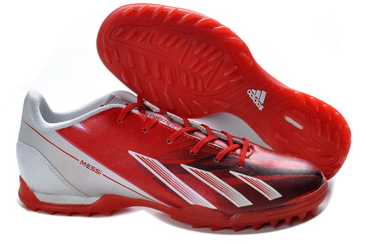 New 2013 Release Messi adidas Turf TF Red White Football Shoes For Wholesale