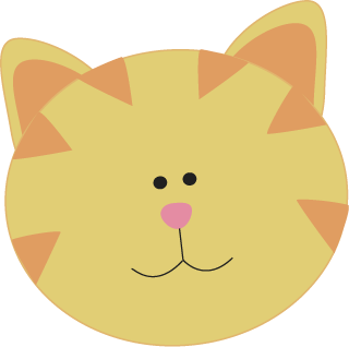 cat face clip art yellow cat face cute yellow cat face with rh pinterest ca cute cat face clipart cat face clipart images