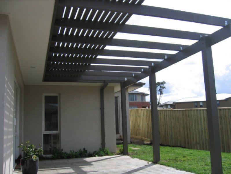 Pergola Incorporating Slats To Block Harsh Sun Outdoors