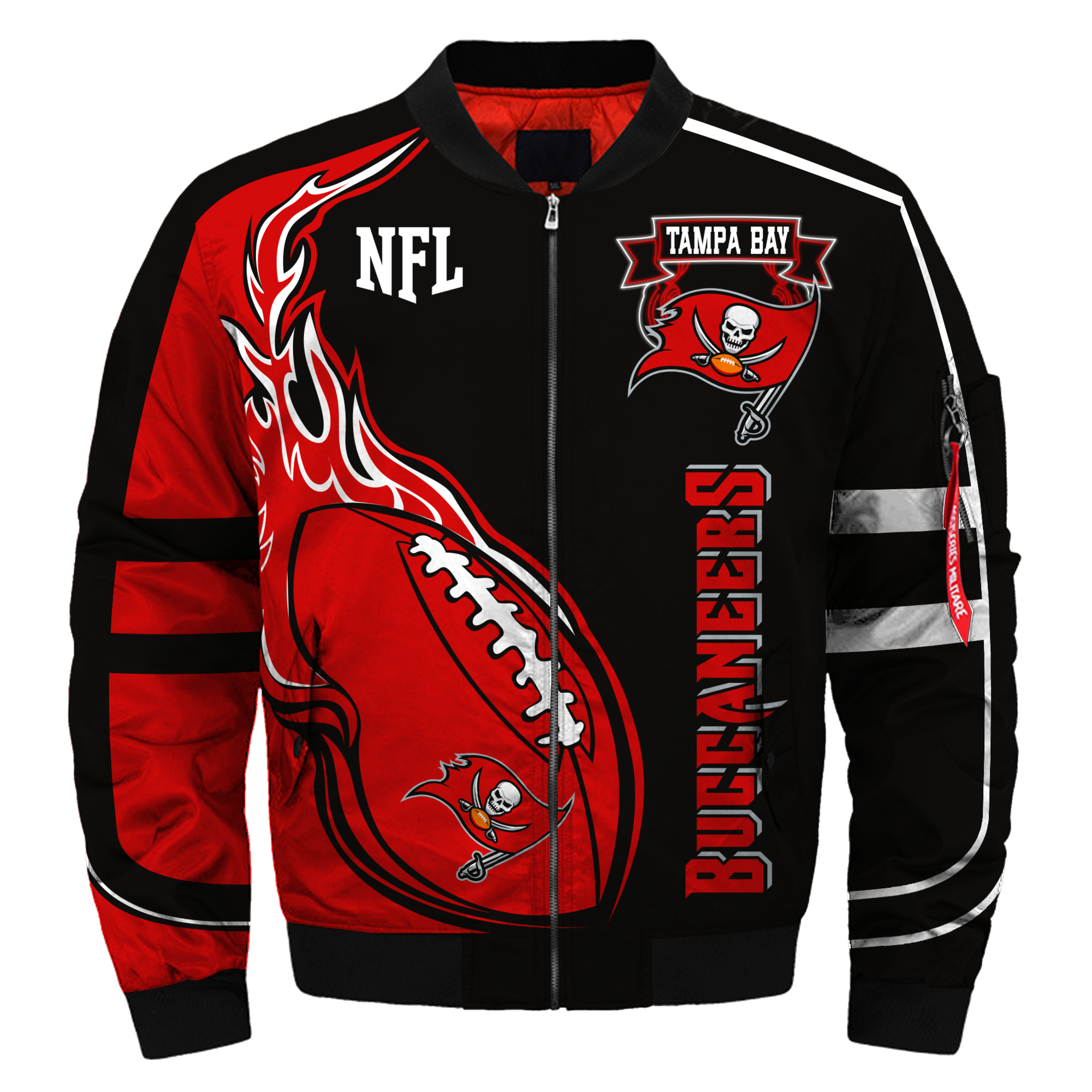 Tampa Bay Buccaneers Bomber Jacket Nfl Tampa Bay Buccaneers Apparel Bomber Jacket Winter Bomber Jacket Fashion Tampa Bay Buccaneers