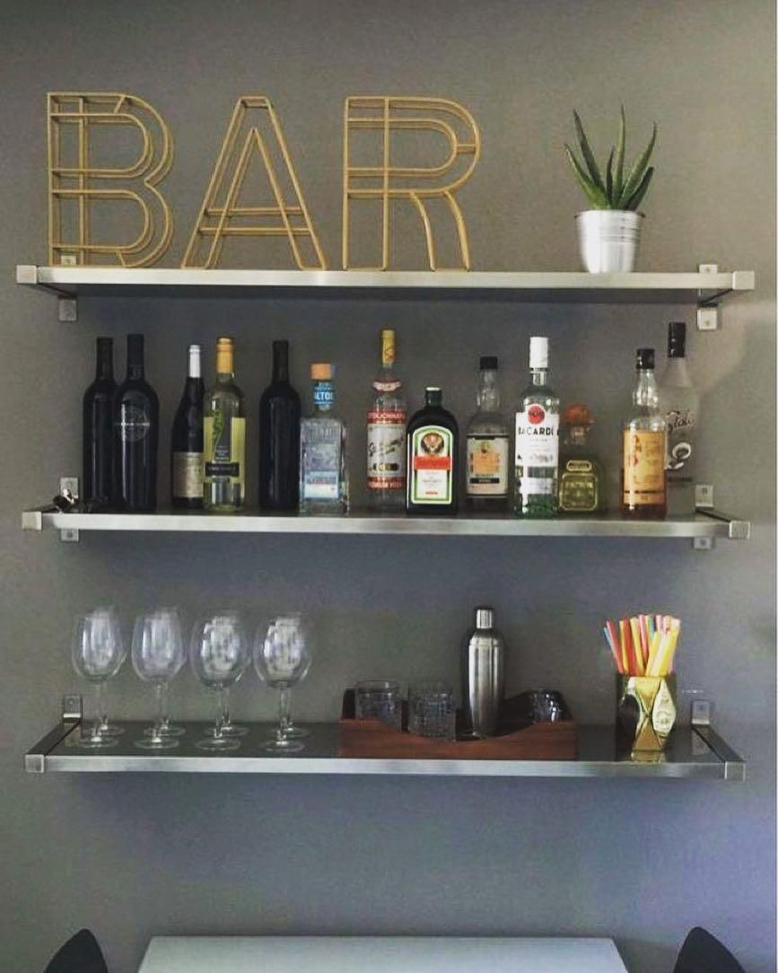 What A Creative Way To Design The Bar Area In Your Apartment