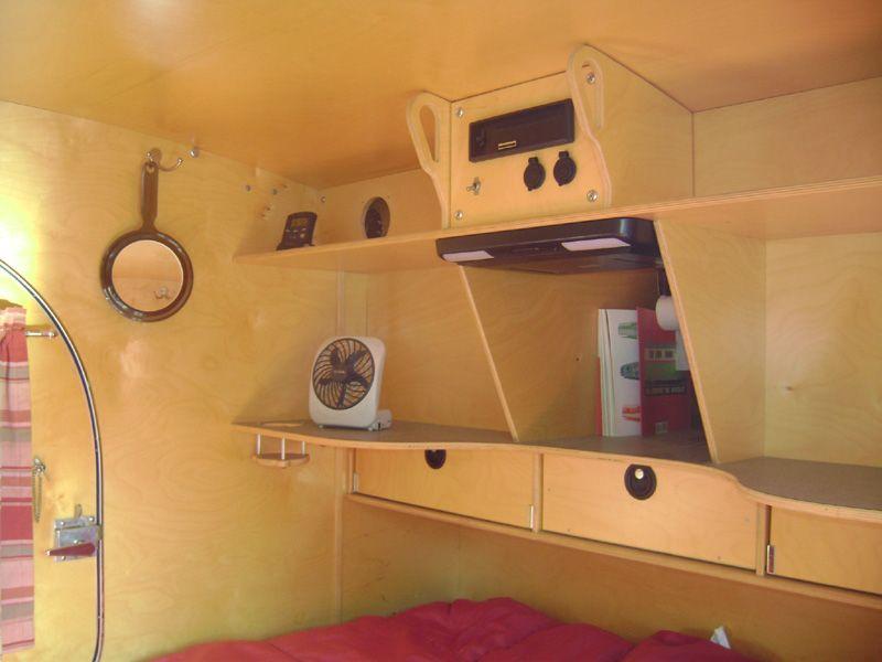 Teardrop trailer interiors teardrop interior teardrop for Teardrop camper interior ideas