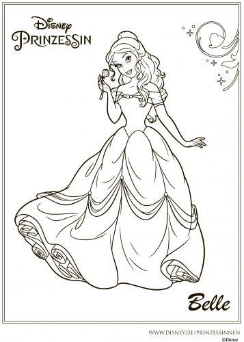Принцесса Белль с розой