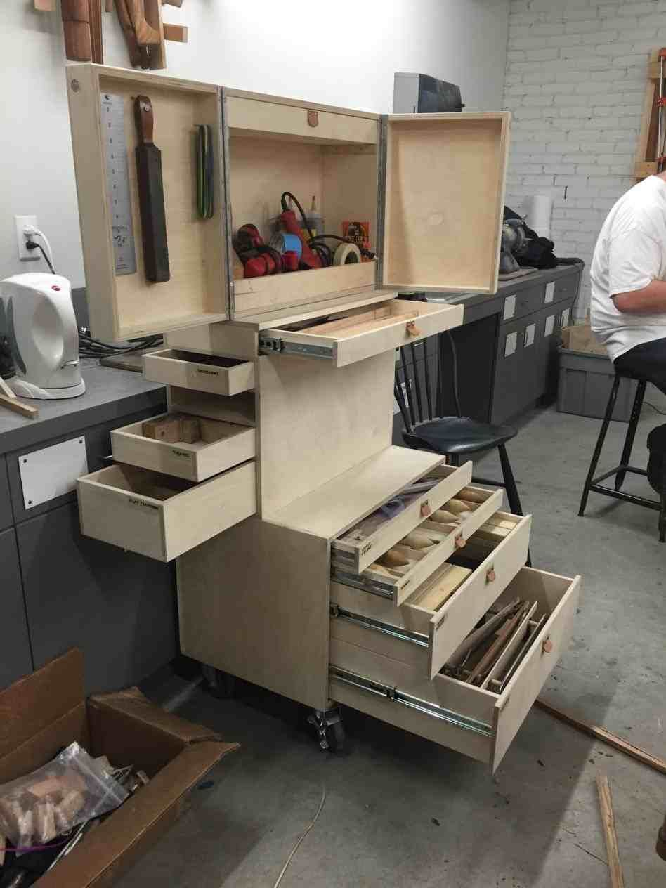 The Images Collection Of Diy Wooden Tool Box On Wheels Rolling