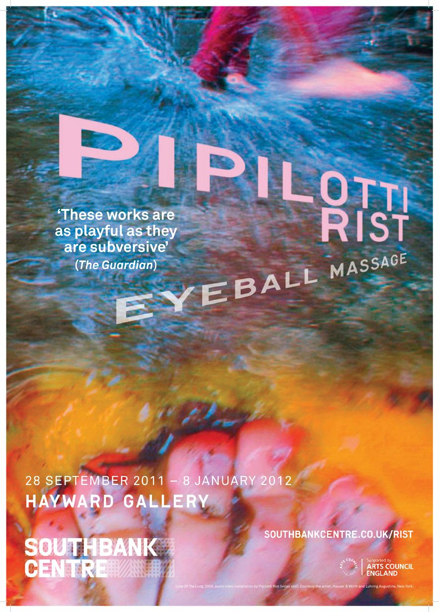Microsite for Hayward Gallery's Pipilotti Rist exhibition.