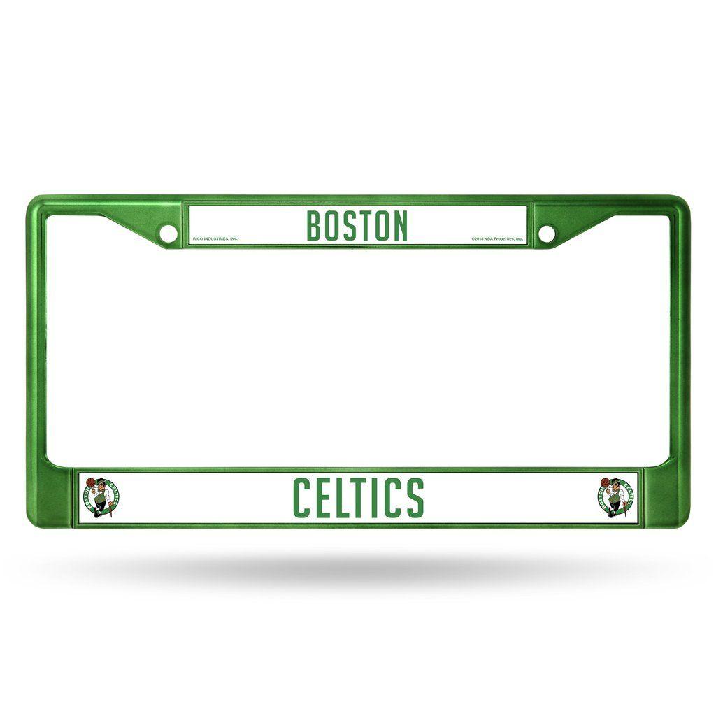 Celtics Metal License Plate Frame - Green