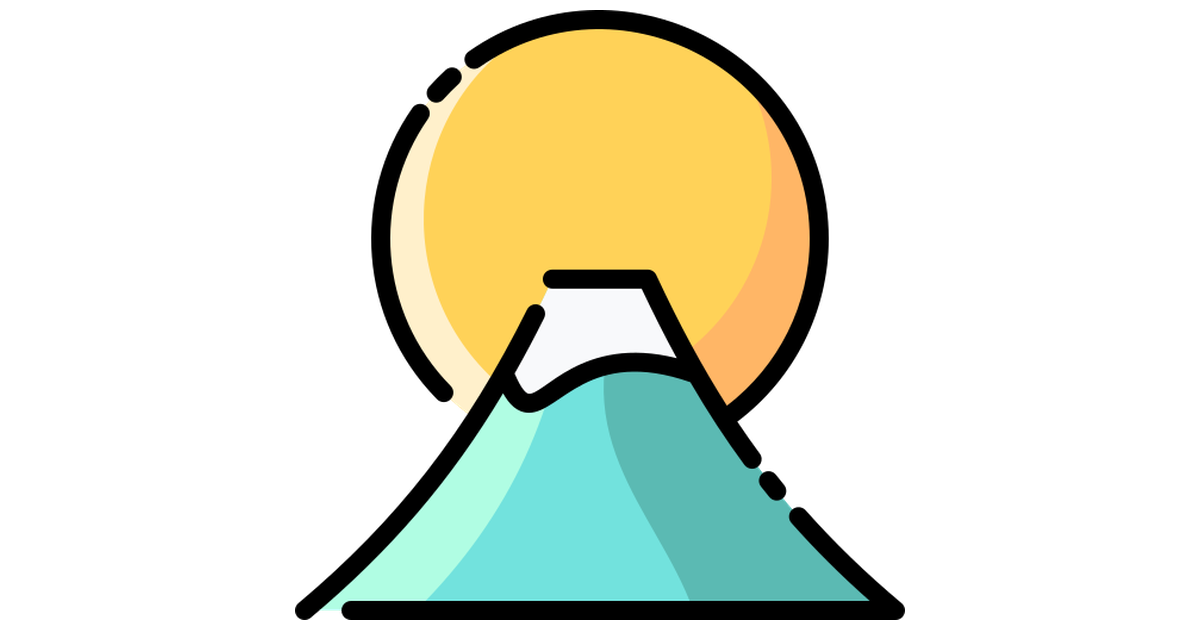 Mount Fuji Free Vector Icons Designed By Vitaly Gorbachev Mount Fuji Vector Icon Design Icon