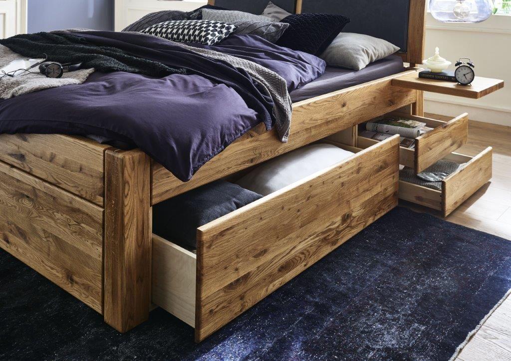 Easy Sleep Schubladenbett 140x200 Massivholzbett Bett Rustikale Schlafzimmermobel