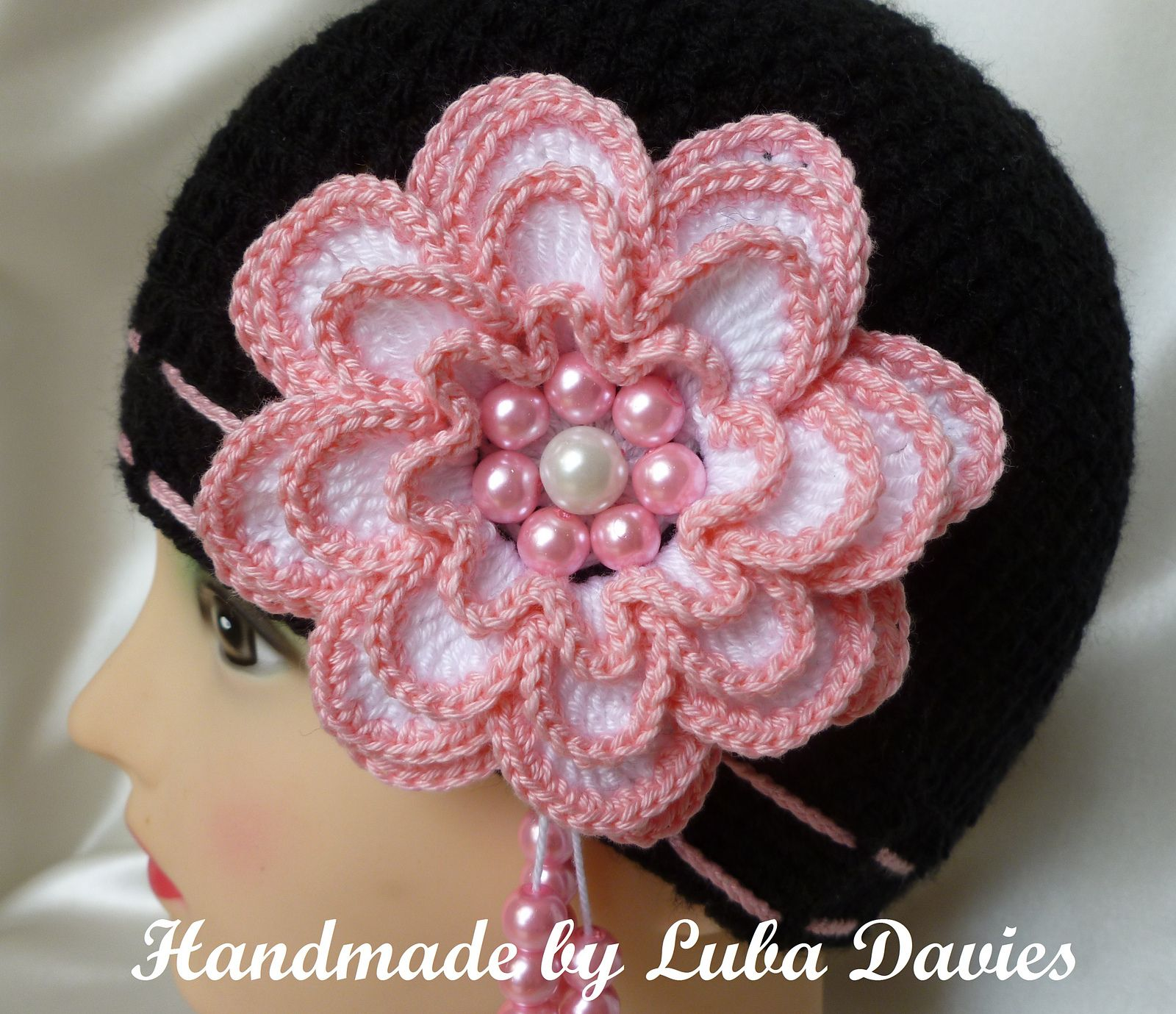 Ravelry: MISS ROSY hat for girls with big 4 layers flower by Crochet- atelier