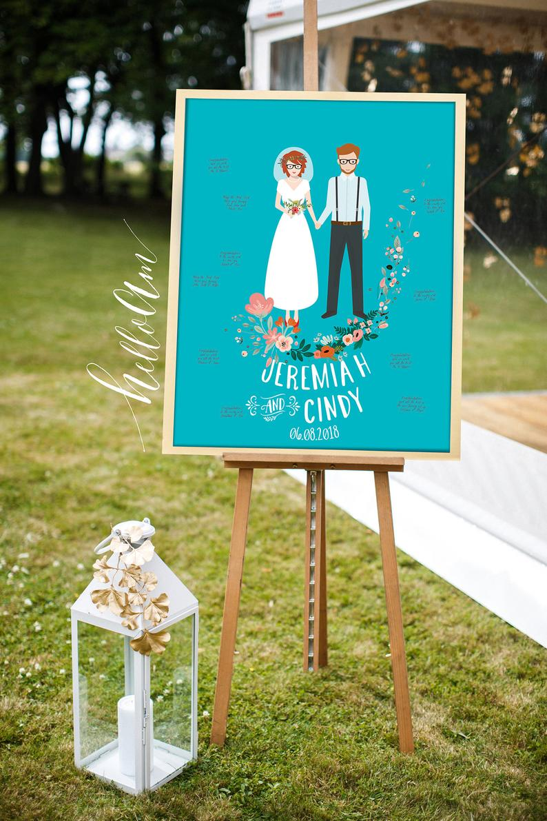 Wedding Guest Book Alternative Guest Book Alternative Wedding Gift Person In 2020 Wedding Guest Book Alternatives Personalized Wedding Gifts Guest Book Alternatives
