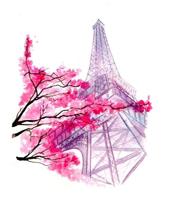 Blossoms In Paris Imprime A Partir D Une Illustration Originale A