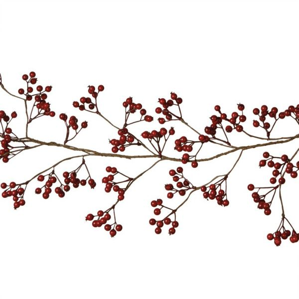 Dark Red Berry Garland