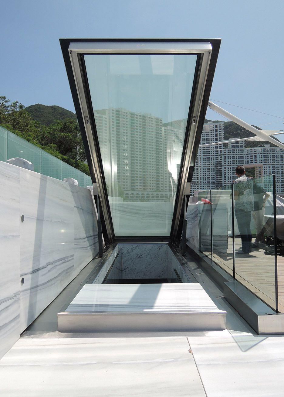 Glass Stair And Skylight By Carpenter Lowings Interior Hong Kong China Glass Staircase Skylight Glass Stairs