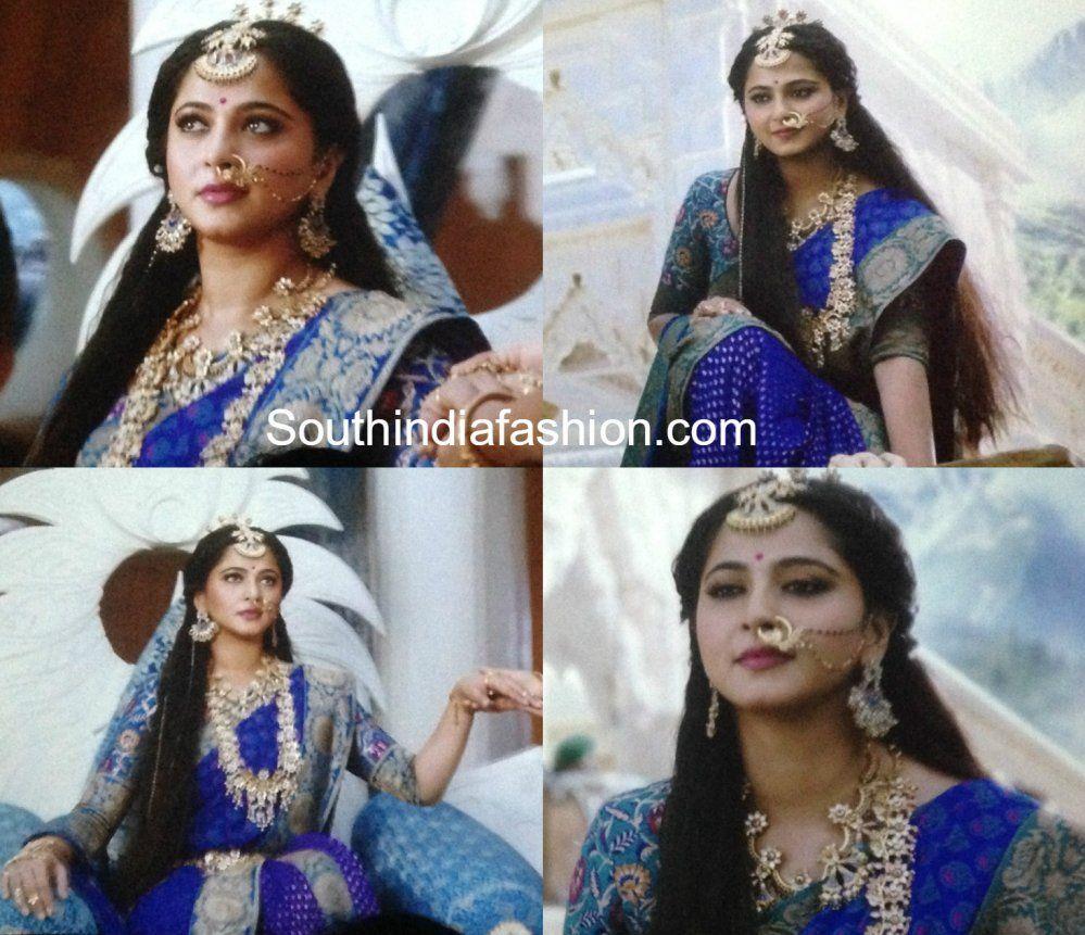 Anushka Shetty As Princess Devasena In Baahubali 2 The Conclusion Saree Jewellery Saree South Indian Actress