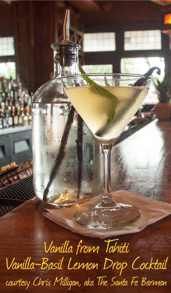 Tahitian Vanilla-Basil Lemon Drop Cocktail