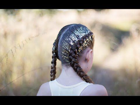 Dutch Glitter Braids | Cute Girls Hairstyles - YouTube | Hair ...