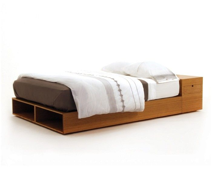 Modern Platform Bed In Sustainable Bamboo That Can Be Stained To Match The Other Tones In Your Living Room Modern Platform Bed Modern Bed Bedroom Design Diy