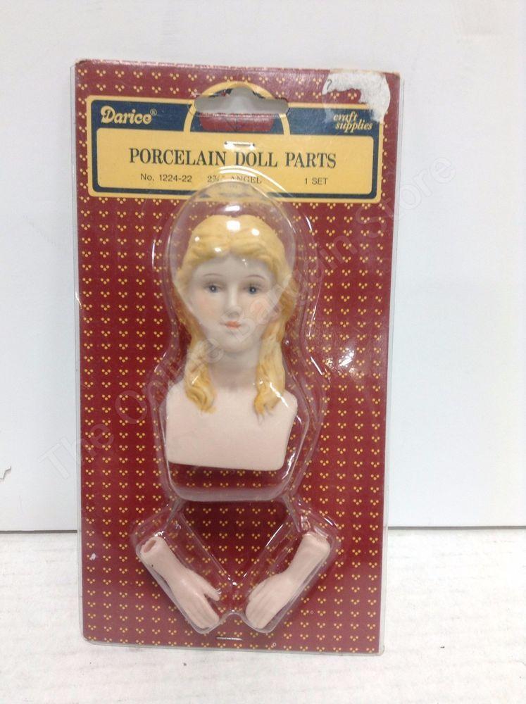 head and arms NIP Porcelain Doll Set