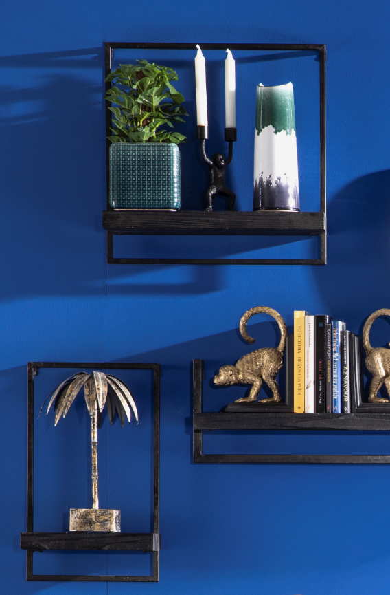 Wanddecoratie Inspiratie Tropische Kleuren Lente Interieur Blauw Interieur