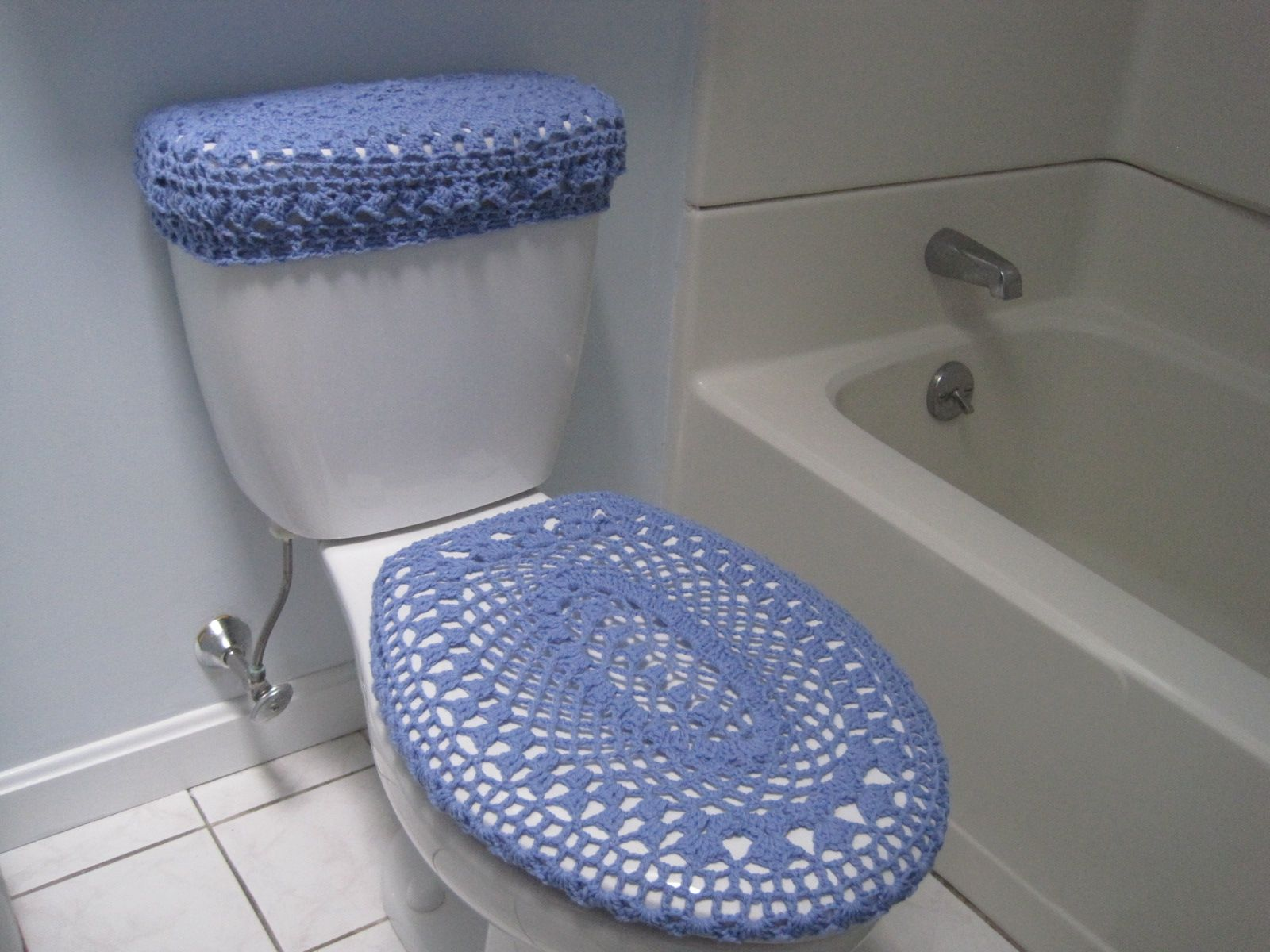 Set Of 2 Crochet Covers For Toilet Seat U0026 Toilet Tank Lid, Cozies .