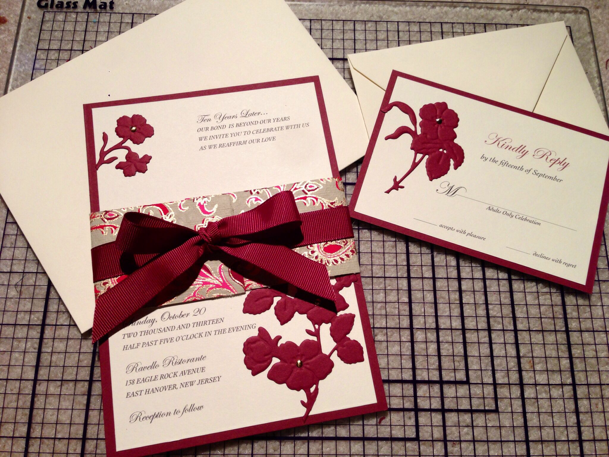 Vow Renewal Invitation Set - designed/copyrighted at The PaperMint ...