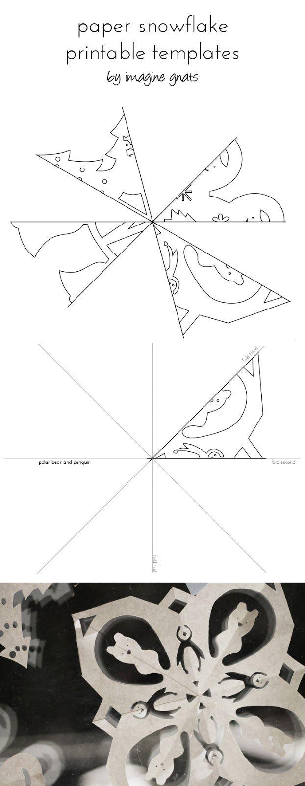 free printable: paper snowflakes | Nieve, Papel y Navidad