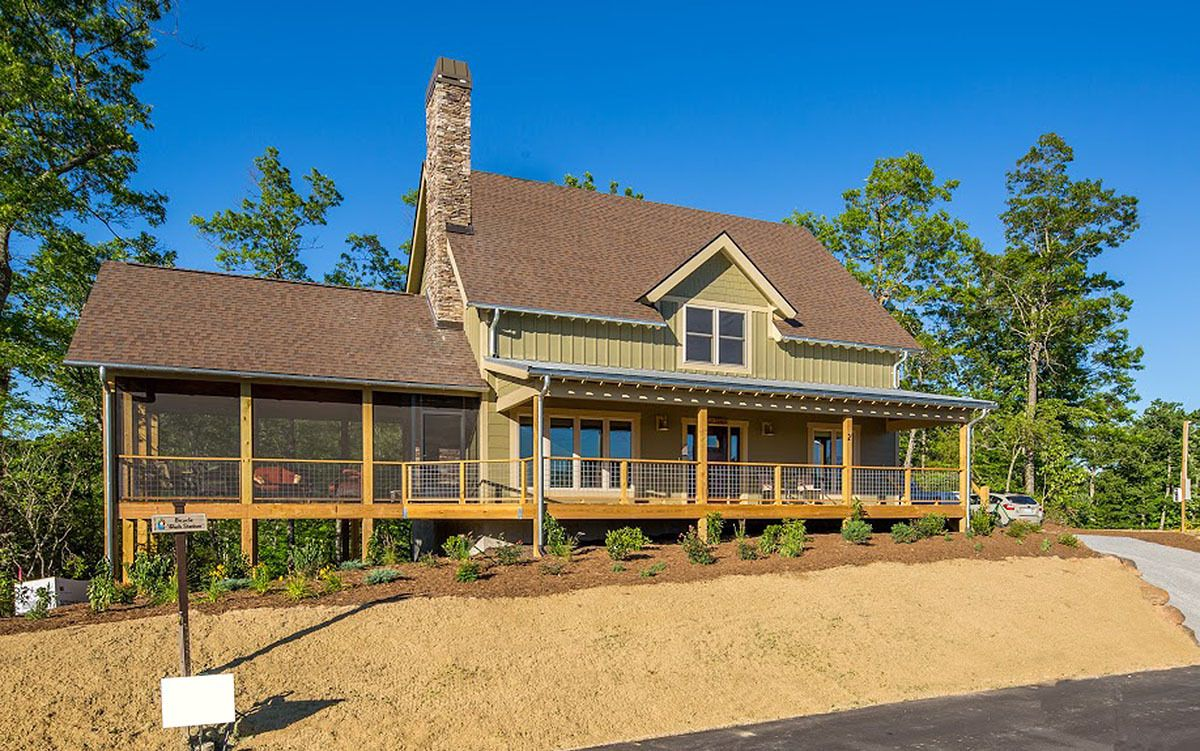 Plan 18789ck Rustic Country Home Plan Porch House Plans House Plans Rustic Country Homes