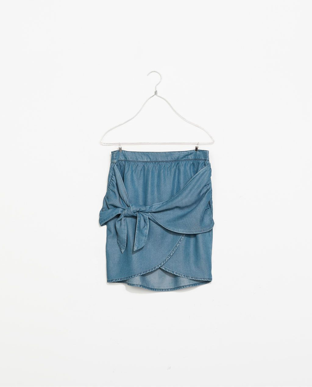 ZARA - NEW THIS WEEK - CROSSOVER SKIRT WITH BOW