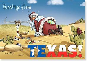 Hope you snag yourself a Merry Christmas - Texas Christmas card at Leanin' Tree - Love all of their western Christmas cards