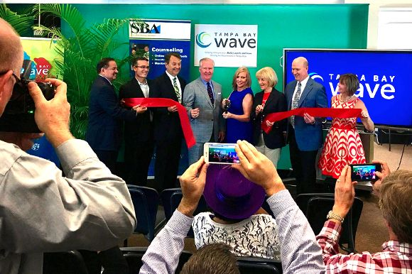 Tampa Bay WaVE tech accelerator and incubator grand opening event at 500 E Kennedy Blvd in downtown Tampa.