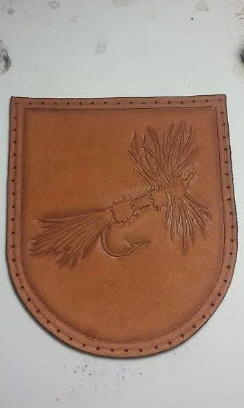 The Making Of A Leather Reel Case Part 1 Leather Craft Patterns Leather Art Leather Craft