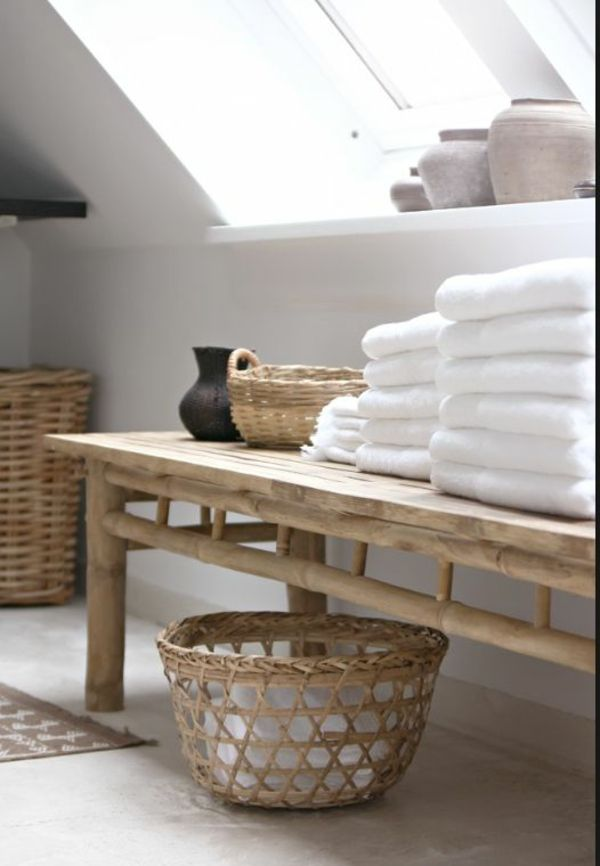 Bambus Badezimmer Möbel Im Asiatischen Stil