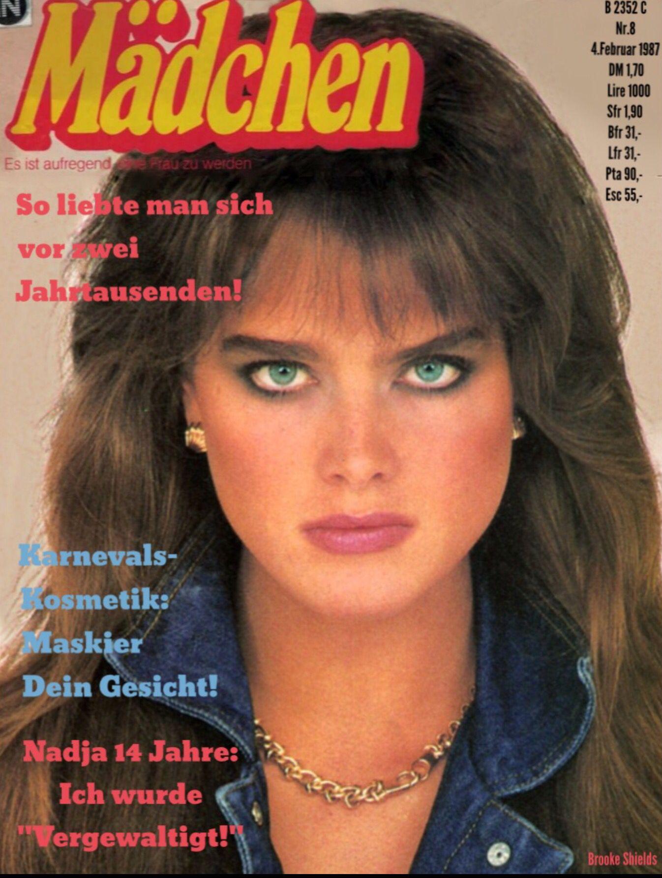 Brooke Shields 1987: Brooke Shields Covers Madchen Magazine ( Germany