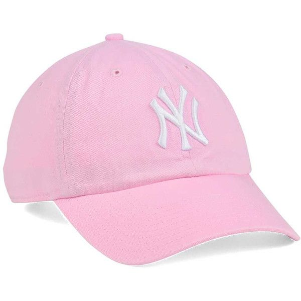 523af10d77 New York Yankees  47 MLB Pink White  47 CLEAN UP Cap ❤ liked on ...