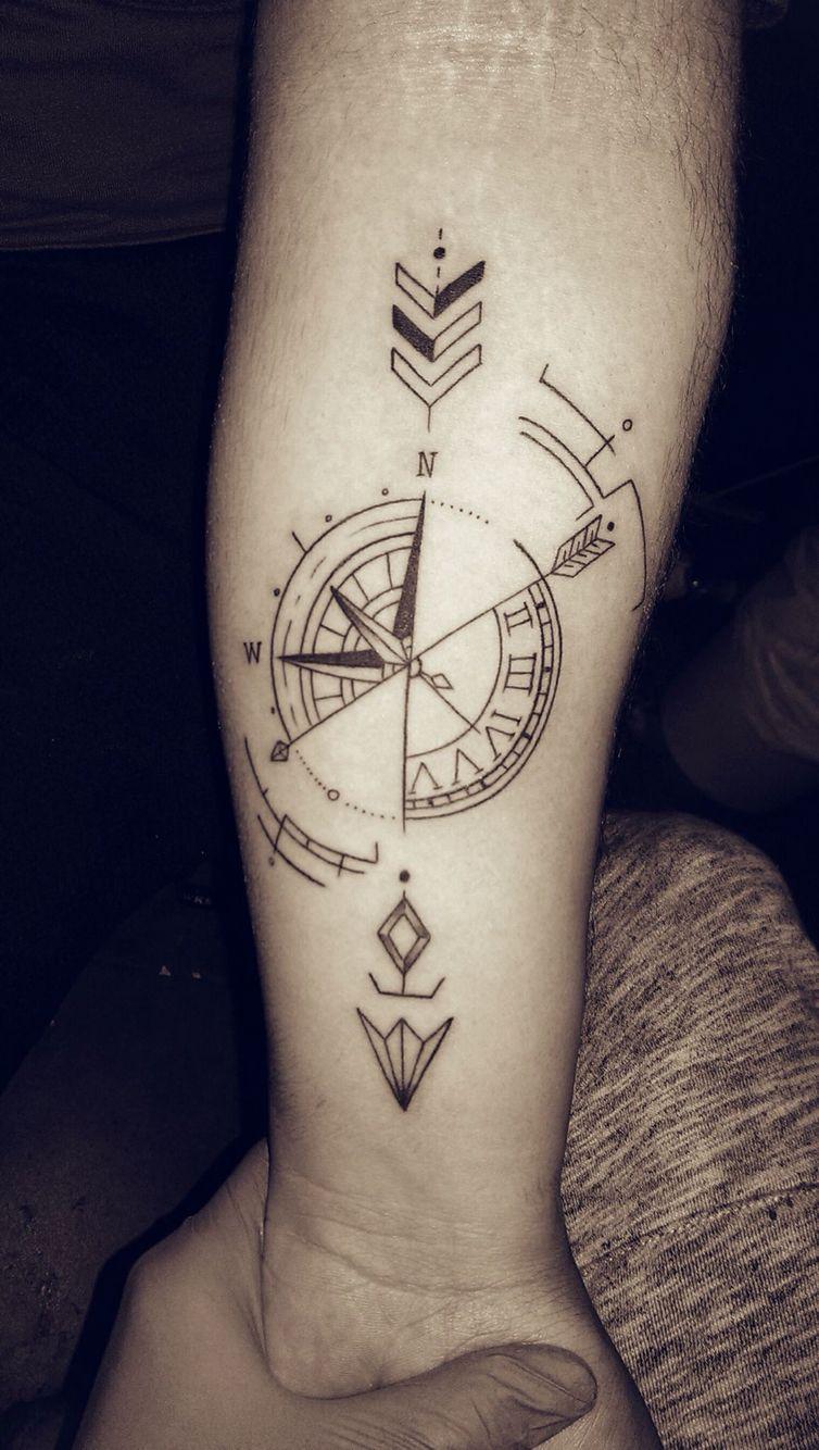 Tattoo Compass Arrow Clock тату идеи для татуировок